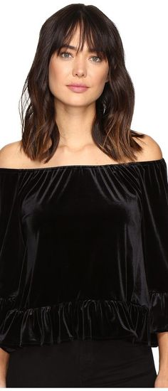 Sanctuary Julia Top (Black) Women's Clothing - Sanctuary, Julia Top, B0609-KS454-001, Apparel Top General, Top, Top, Apparel, Clothes Clothing, Gift, - Street Fashion And Style Ideas