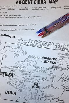 Ancient china map activity pinterest ancient china geography ancient china map activity use this 7 page resource with your 6th 7th gumiabroncs Gallery