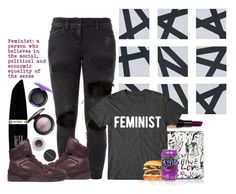 """""""That's My Girl"""" by miica-olavarria ❤ liked on Polyvore featuring WALL, Faith Connexion, Bobbi Brown Cosmetics, Lanvin, Max Factor, Givenchy, Smashbox and MAC Cosmetics"""