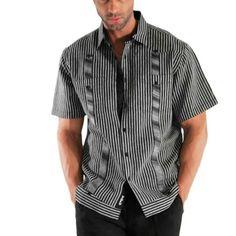 Striped Short sleeve Guayamisa.: Guayabera shirts experts, offering wedding shirts and Pants. - MyCubanStore