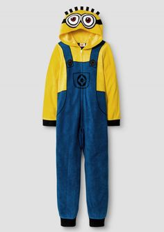 Sleepwear 84544: Boys Minion Costume Pajamas 8-12 Despicable Me Hoodie Zip Up Blanket Sleeper New -> BUY IT NOW ONLY: $32.95 on eBay!