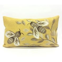Liora Manne Visions Bees Honey Oblong Indoor/outdoor Throw Pillow In Gold Liora Manne Visions Bees Honey Square Indoor/outdoor Throw Pillow In Gold Bee Shop, Bee Images, I Love Bees, Bee Embroidery, Bee Art, Bee Design, Bee Theme, Bee Happy, Bees Knees