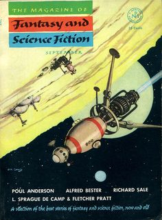 The Magazine of Fantasy and Science Fiction, September 1953, cover by Jack Cogins