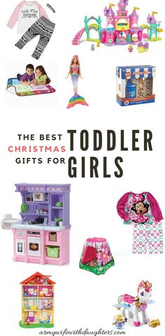 The best Christmas gift ideas for toddler girls. As the mom of three girls these Christmas gifts are sure to be a winner. Toddler gift guide for Christmas. The best Christmas gifts for toddler girls from a mom of three girls. Toddler Christmas Gifts, Christmas Gift Guide, Best Christmas Gifts, Christmas Fun, Christmas Morning, Homemade Christmas, Christmas Traditions, Toddler Preschool, Toddler Toys