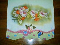 Pintura em tecido guardanapo Pintura em tecido