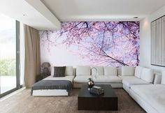 Spring has Sprung. 'Cherry Blossoms against sky' Wallpaper @pickawall Reposted Via @pickawall