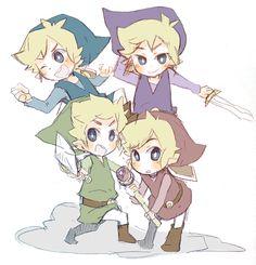 The Legend of Zelda: Four Swords Adventures, Links / 「プラス!」/「ish」のイラスト [pixiv]