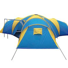 Peaktop 3+1 Rooms 8 Persons Large Family Group C&ing Te...   sc 1 st  Pinterest & 10T Desert 10 - 10 person cotton pyramid tent sewn in ground ...