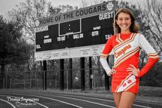 high school senior cheerleader photo idea Cheerleading Senior Pictures, Cheerleading Poses, Senior Cheerleader, Cheerleading Cheers, Cheer Poses, Cheer Stunts, Girl Senior Pictures, Cheer Pictures, Senior Girls