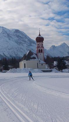 church in Leutasch - Tirol, near ski cross-country track