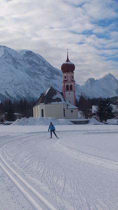church in #Leutasch - Tirol, near ski cross-country track