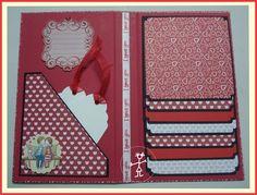 Mini Álbum Bodas de Papel Cascata Mini Album Scrapbook, Scrapbook Bebe, Christmas Scrapbook Layouts, Scrapbook Designs, Scrapbook Pages, Baby Mini Album, Creative Cards, Diy Cards, Creations