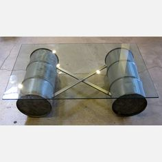 (7) Fab.com | Glass Topped Barrel Coffee Table........great idea to make one!!!