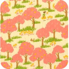 forest print fabric