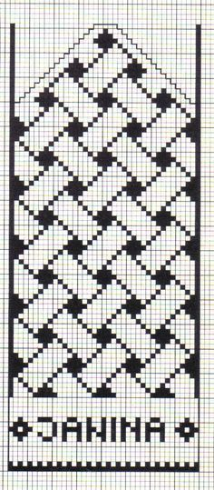 Anna Crochet Hungari https:// Filet Crochet Charts, Knitting Charts, Knitting Stitches, Knitting Patterns, Tapestry Crochet Patterns, Loom Patterns, Mittens Pattern, Knit Mittens, Cross Stitch Embroidery