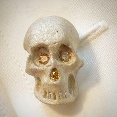 Sandblasted skull and diamonds. Death w diamonds collection.