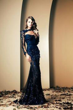 Uzun transparan abiye elbise modeli