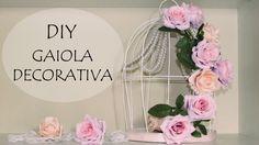DIY: Gaiola Decorativa com Flores e Pérolas (Cage Decor Flowers) - Decoração Quarto, Noivado, Dia Namorados e Casamento - Wedding and Engagement