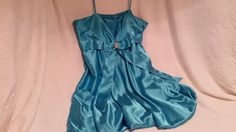 Blue Silky Size 16 XL Party / Prom / by sistersvintageattic