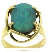 Freeform Boulder Opal Ring in 18kt #opalsaustralia
