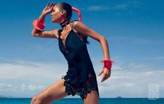 Sporty Tribal Fashion : Vogue Japan 'Waves in Motion'