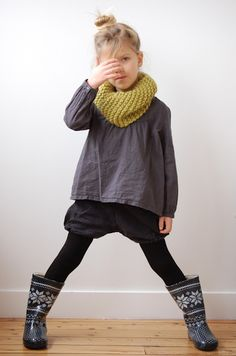 Cute boots and scarf
