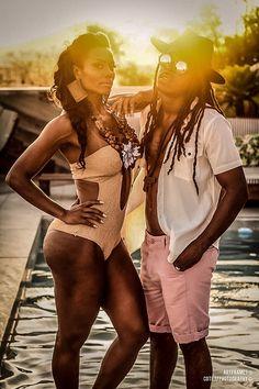 Victor Bhing e a musa Lilian Duarte @limodeltop nas filmagens do clip do @oficialvictorbhing na casa mosquito hotel boutique em ipanema - RJ