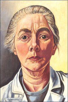 Charley Toorop (Dutch 1891–1955), Zelfportret, oil/canvas, 1954. Collection Kröller-Müller Museum, Otterlo, Netherlands.