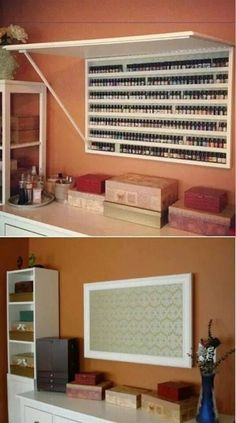 Best Craft Storage Room Nail Polish 62 Ideas Best Picture For chanel Nail Polish For Your Tas Nail Polish Holder, Nail Polish Storage, Organize Nail Polish, Nail Polish Wall Rack, Privates Nagelstudio, Nail Organization, Bedroom Organization, Rangement Makeup, Home Nail Salon