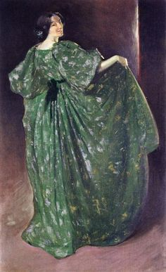 John White Alexander (American painter, 1856-1915) Green Girl 1896