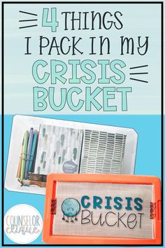 What should you pack in a crisis bucket for your school counseling program? Be able to respond on a dime to suicide, death, or other crisis with ideas for protocol. School Counselor Organization, School Counselor Office, High School Counseling, Elementary School Counselor, Grief Counseling, School Social Work, Counseling Office, School Classroom, Counseling Activities