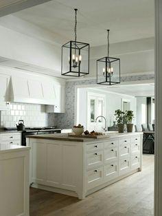 Lanterns in kitchen