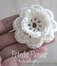 Anleitung f�r die H�kelbl�te Frieda * Crochet flower Frieda Tutorial