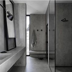 Studio Griffiths offer a complete Interior Design, Interior Architecture, Decoration and Styling service's for private residential, property developers, commercial spaces and hospitality projects across Australia. Grey Bathrooms, Bathroom Renos, Modern Bathroom, Bathroom Taps, Bathroom Ideas, Bathroom Interior Design, Home Interior, Bathroom Remodel Cost, Concrete Bathroom
