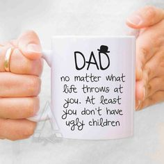 Fathers day gift from daughter fathers day mugs dad mug by artRuss Fathers Day Mugs, First Fathers Day, Fathers Day Crafts, Gifts For Father, Diy Birthday Gifts For Dad, Presents For Fathers, Dad Birthday Quotes, Funny Fathers Day Gifts, Diy Father's Day Gifts