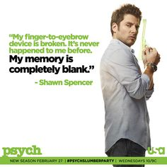 """Twitter / Psych_USA: """"My finger-to-eyebrow device ..."""