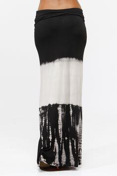 Ombre Tie Dye Maxi Skirt