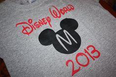 Disney World 2013 Custom Hand Painted Youth T-Shirt