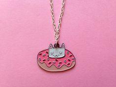 Collier de chat du émail chat j'aime les chats par ilikeCATSshop