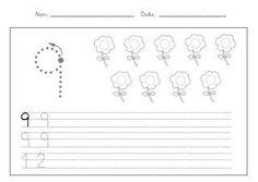 Fitxes caligrafia numeros 1 9 Sorting Colors, Classroom Crafts, Math, Cards, Angel, Literacy Activities, Fine Motor, Brazil, Preschool Alphabet Activities