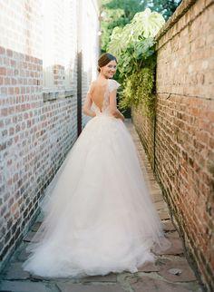 V-back wedding dress: Photography: Elisa Bricker - http://elisabricker.com/