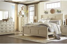 Bolanburg White Louvered Panel Bedroom Set from Ashley | Coleman Furniture
