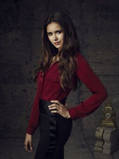 Elena Gilbert is the main female character, the main protagonist, and the heroine of The Vampire Diaries. She is an 18 year old vampire. She lives in the supernatural town of Mystic Falls, Virginia, with her adoptive brother and biological cousin Jeremy at 2104 Maple Street.