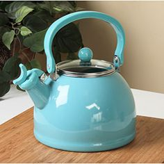 Calypso Basics Turquoise Whistling Tea Kettle - Love mine!