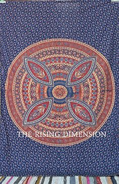 The Rising Dimensions Kantha Work Mandala Tapestry Unique Tapestry Hippie Wall Hanging Mandala Tapestry, Tapestries, Amazon, Unique, Wall, Hanging Tapestry, Amazons, Riding Habit, Tapestry