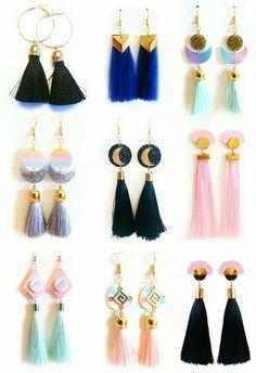 Ohrringe Der Frauen - Trend in women's earrings - Earring 300 Tassel Earing, Tassel Jewelry, Clay Jewelry, Jewlery, Jewelry Accessories, Fashion Accessories, Fashion Jewelry, Jewelry Design, 2014 Trends