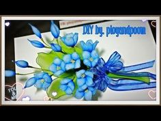 DIY easy nylon flower (How to by ployandpoom(ผ้าใยบัว)) - YouTube