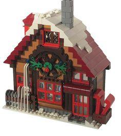 Winter Lego Sports Shop 035a by Soundwave_sw, via Flickr Lego Christmas Village, Lego Winter Village, Lego Village, Lego Design, Lego City, Casa Lego, Box Container, Legos, Lego Lego