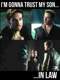 """""""I'm gonna trust my son... in law"""" -Charming to Hook- 5x21 5x22 """"The Final Battle"""" #CaptainCharming #OnceUponATime #ONCE #ouat"""