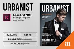 Urbanist Magazine InDesign Template by Mate Toth on Creative Market